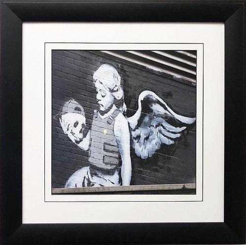 "BANKSY ""Angel in Bulletproof Vest"" New FRAMED Art"