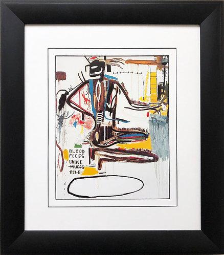 "Jean Michel Basquiat ""Pharynx"" 1985 FRAMED Pop Art"