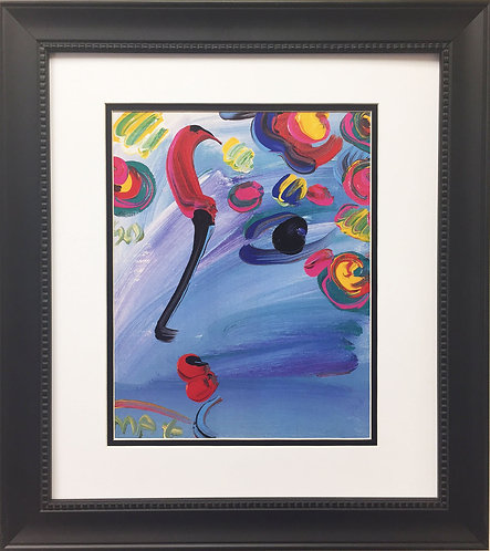 "Peter Max ""Profile on Blue"" (1990)"
