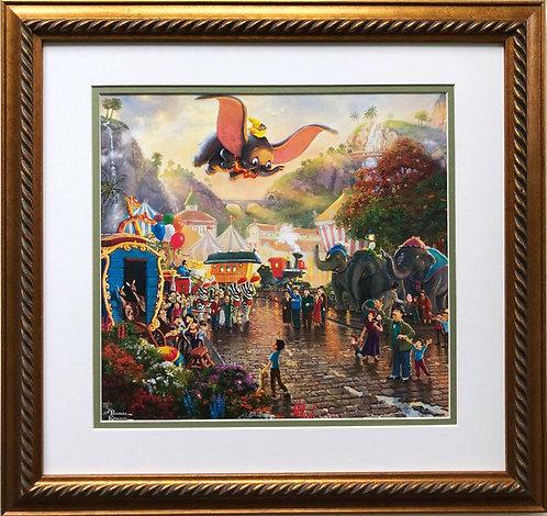 """Thomas Kinkade """"Dumbo"""" New Custom FRAMED Art Print"""