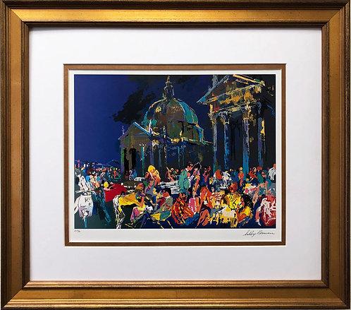 """LeRoy Neiman """"Piazza del Popolo-Rome"""""""