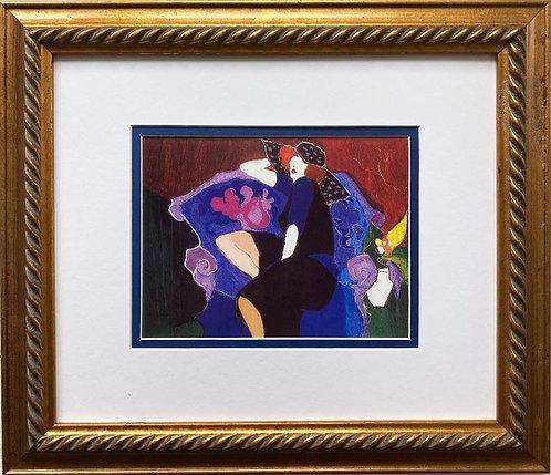 "ITZCHAK TARKAY ""Lilac Time"" New Custom Framed Art Out of Print"