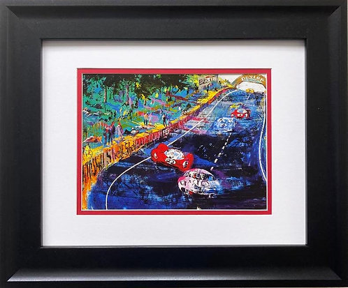"LeRoy Neiman ""La Mans- Grand Prix D'endurance"" FRAMED Art Print"