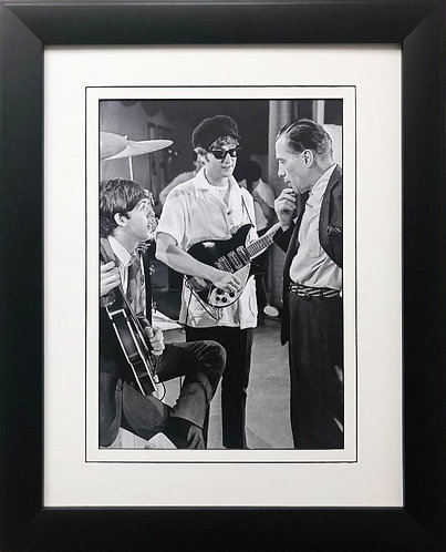 """The Beatles Collection """"Paul and John Discussion w/ Ed Sullivan"""" Framed Poster"""