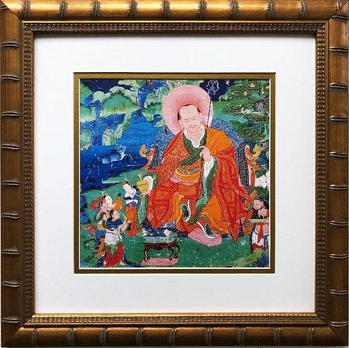 Arhat Nagasena 18th c. Tibetan Buddha Buddhist Custom Framed Art Print