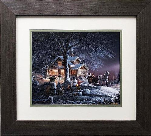 """Terry Redlin """"Winter Wonderland"""" CUSTOM FRAMED ART"""