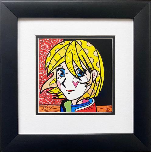 "Romero Britto ""Tokyo"" 2006 FRAMED Plate Signed Pop Art"