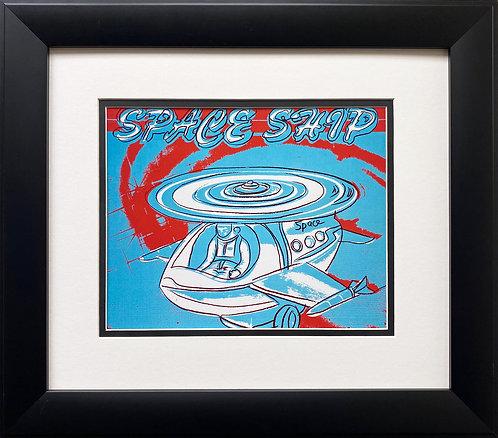 "Andy Warhol ""Spaceship"" CUSTOM FRAMED Pop Art Litho"