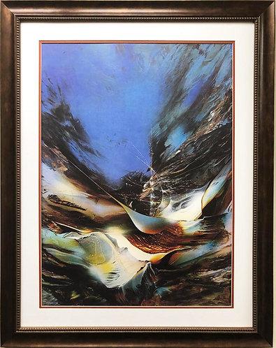"Leonardo Nierman ""The Ship"" Custom Framed Art"