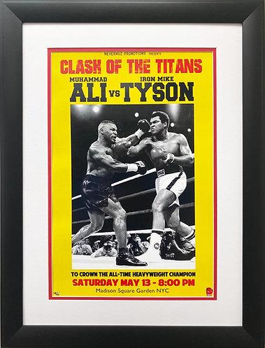 """Clash of the Titans """"Muhammad Ali vs. Tyson"""" (sm)FRAMED Art"""