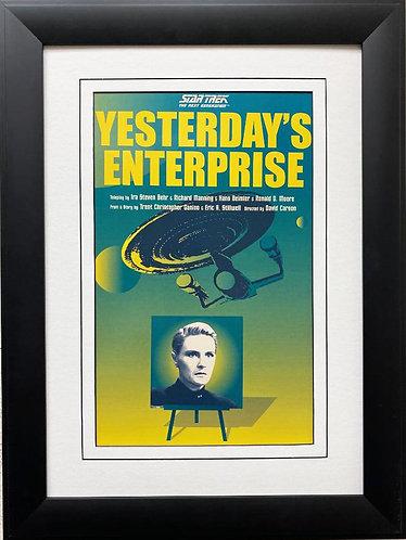 """Star Trek: The Next Generation """"Yesterday's Enterprise """" FRAMED ART"""