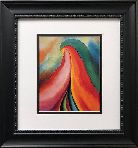"""Georgia O'Keeffe """"Series I- No. 4"""" American Art Print Custom Framed New"""