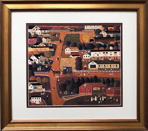 "Charles Wysocki ""Amish Country"" New CUSTOM FRAMED  Art"