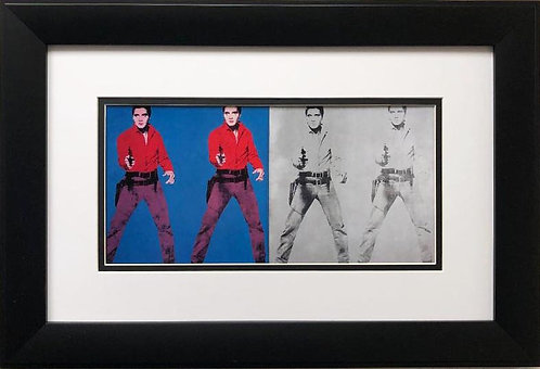 "Andy Warhol ""Elvis I & Elvis II"" CUSTOM FRAMED iconic Pop Art"