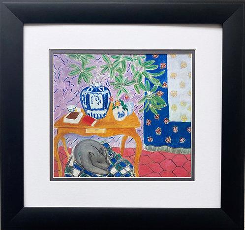 "Henri Matisse ""Interior with a Dog"" Custom Framed Art Print"