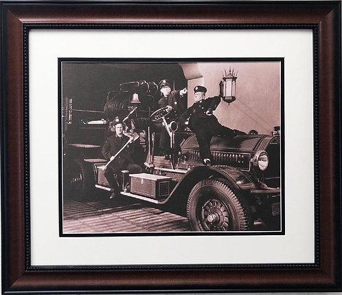 "Three Stooges ""Firefighters"" Custom Framed Art NEW"