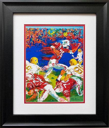 "LeRoy Neiman ""Johnny Rodgers"" FRAMED New Art Print"