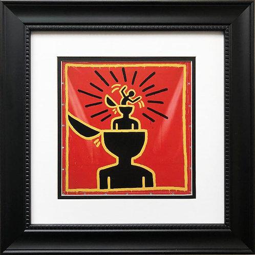 "Keith Haring ""Untitled #9"" CUSTOM FRAMED Print"