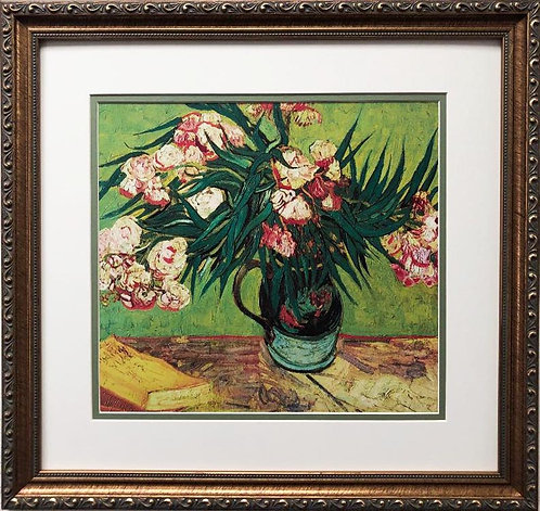 "Vincent Van Gogh ""Oleanders"" CUSTOM FRAMED ART"