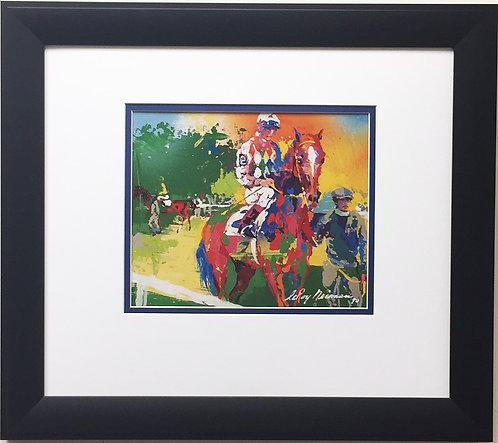 "LeRoy Neiman ""The Walking Ring"" Newly CUSTOM FRAMED Art Print - Horse Equestrian"