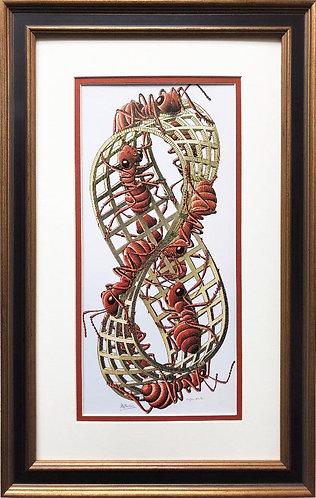 "M.C.Escher ""Mobius Strip II"" (Red Ants) 1963 FRAMED Art"
