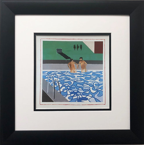 "David Hockney ""2 Boys in a Pool,Hollywood"""
