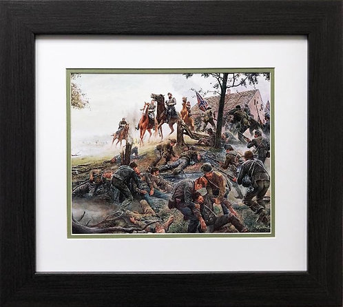 "Mort Kunstler ""Jackson at Antietam"" New FRAMED Civil War Art"