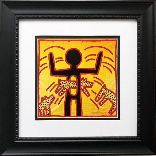 "Keith Haring ""Untitled #1"" CUSTOM FRAMED Print"