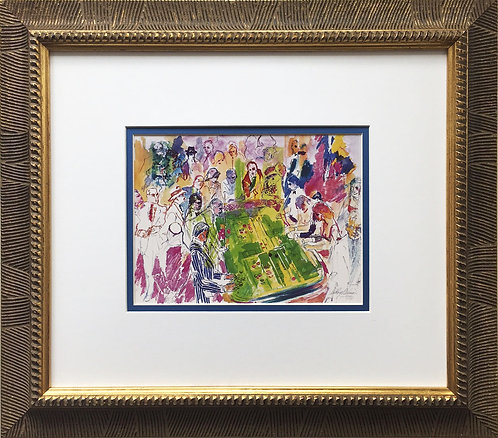 "LeRoy Neiman ""Craps Game 85'"" Newly Custom FRAMED ART PRINT Gambling Vegas AC"