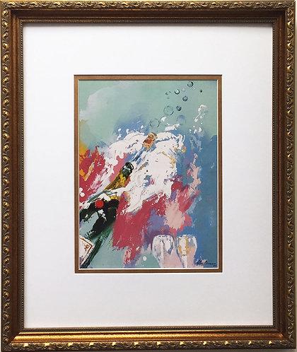 "LeRoy Neiman ""Champagne - New Years Eve 1985"" Newly Custom FRAMED Art print"