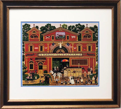 "Charles Wysocki ""Doctor Bonkley's Family"" New FRAMED Art"