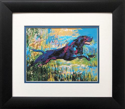 """LeRoy Neiman """"Black Labrador""""   Art Print Labrador Retriever Dog Canine Dogs Lab"""