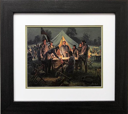 """Mort Kunstler """"Sharpsburg War Council """" New CUSTOM FRAMED Civil Art"""