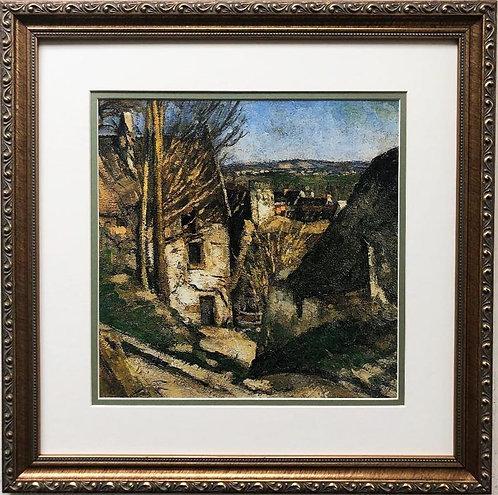 "Paul Cezanne ""The Hanged Man's House in Auvers"" Custom Framed Art Print"