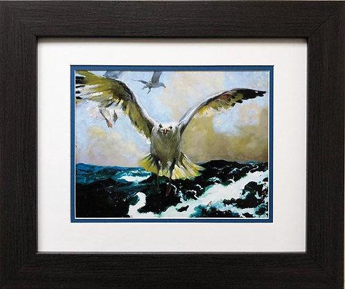 "Jamie Wyeth ""The Warning"" CUSTOM FRAMED Art"