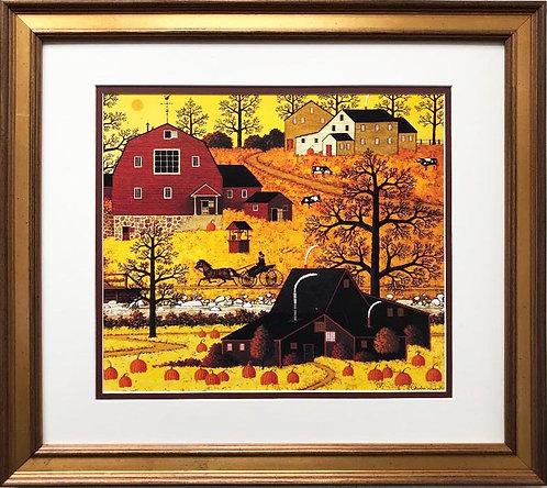"Charles Wysocki ""Good Morning"" New CUSTOM FRAMED Americana Art"