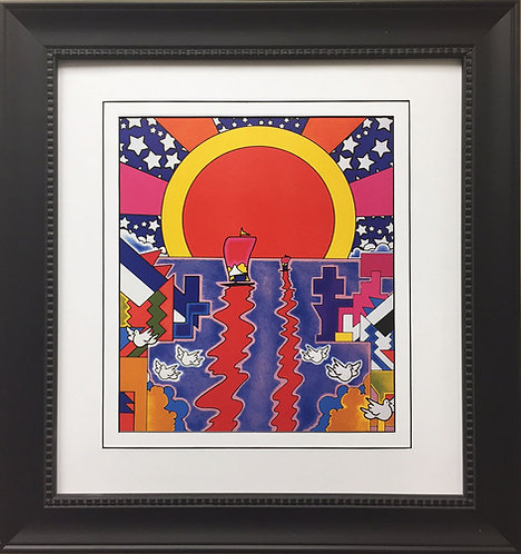 "Peter Max ""Sailing New Worlds"" (1976)"