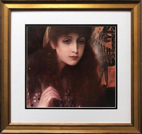 """Gustav Klimt """"GIrl from Tanagra"""" CUSTOM FRAMED ART"""