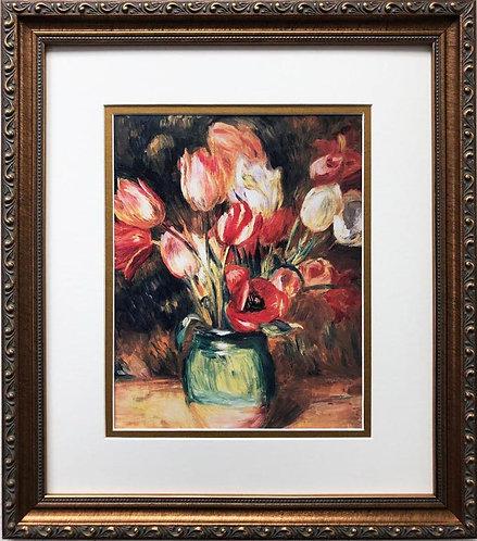 "Pierre-Auguste Renoir ""Tulips in a Vase"" FRAMED Art"