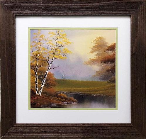 """Bob Ross """"Calm Riverside"""" CUSTOM FRAMED ART"""