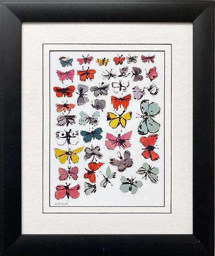 """Andy Warhol """"Butterflies"""" 1955 CUSTOM FRAMED Pop Art Lithograph"""