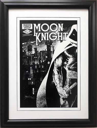 "Marvel ""Moon Knight #23"" Framed Poster Comic Book Art"