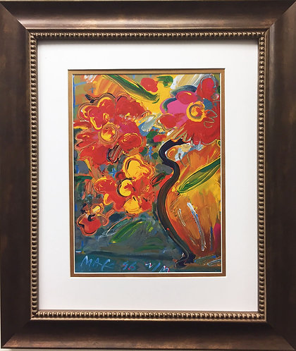 "Peter Max ""Vase with Flowers I"" (1996)"