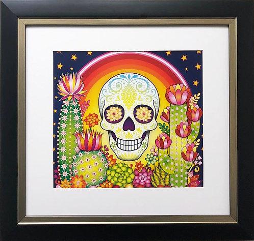 "Thaneeya McArdle ""Sonora"" (sound) Sugar Skull FRAMED Art"