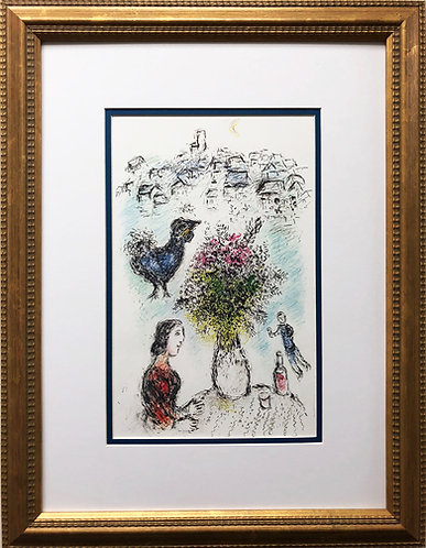 "Marc Chagall ""La Bouquet Rose"" Newly CUSTOM FRAMED Rare Offset Litho"