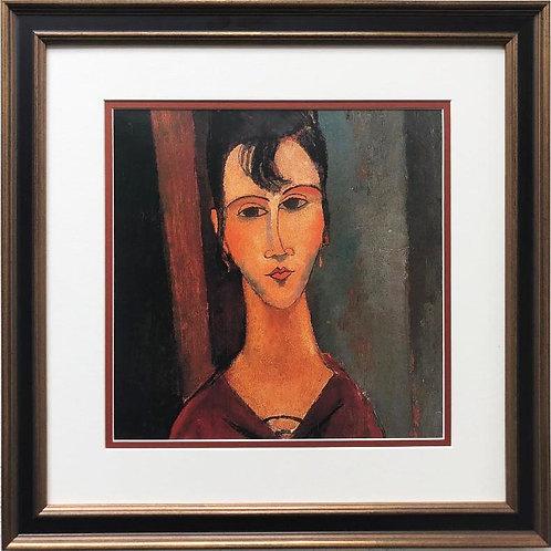 """Amedeo Modigliani """"Portrait of a Woman"""" CUSTOM FRAMED ART"""