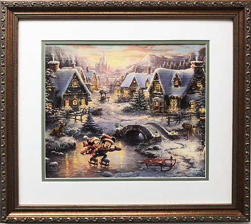 "Thomas Kinkade ""Sweetheart Holiday"" New CUSTOM FRAMED Art Print"