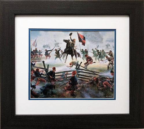 """Mort Kunstler """"The Grandest Charge Ever Seen """" FRAMED Civil War Art"""