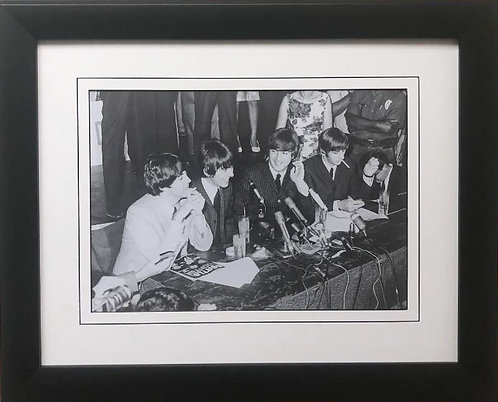 """The Beatles Collection """"Press Conference"""" 1964 Framed Poster"""
