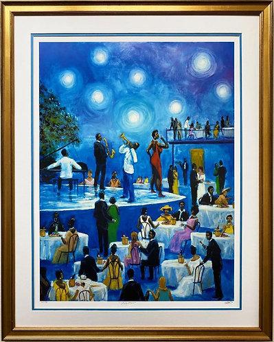 "Ted Ellis ""Jazzy Blues"" Signed & # FRAMED Art w/ COA"